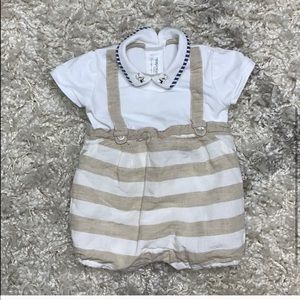 6 mos ~Mayoral Red Gingham Ruffle Romper NWT~Baby Girl Sizes
